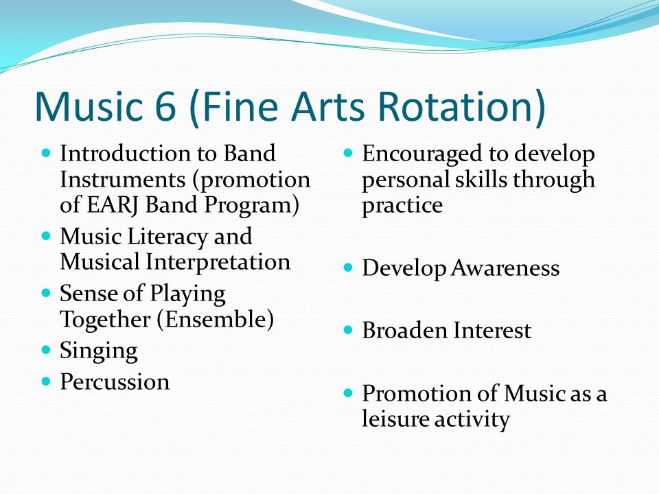 Music 6 (Fine Arts Rotation)