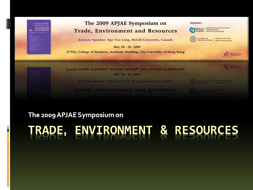 Trade, Environment & Resources