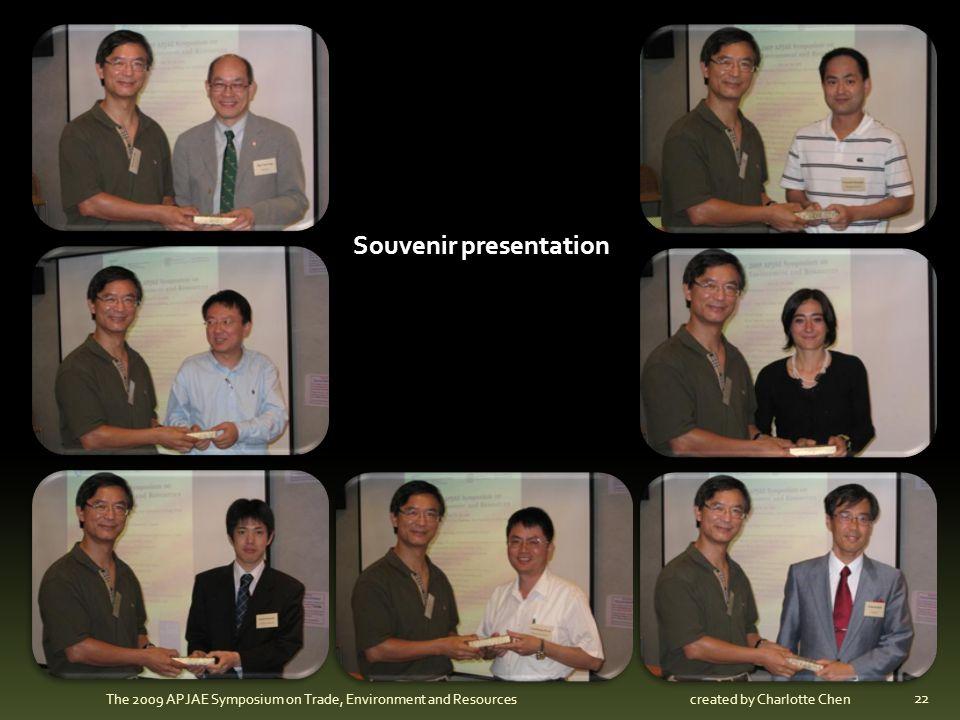 Souvenir presentation