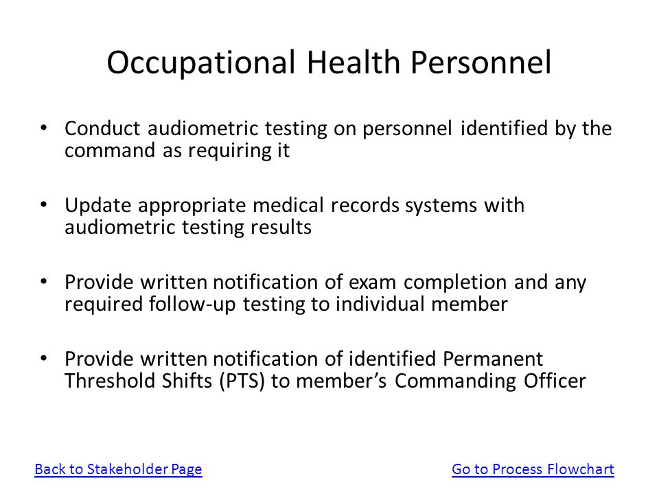 Occupational Health Personnel