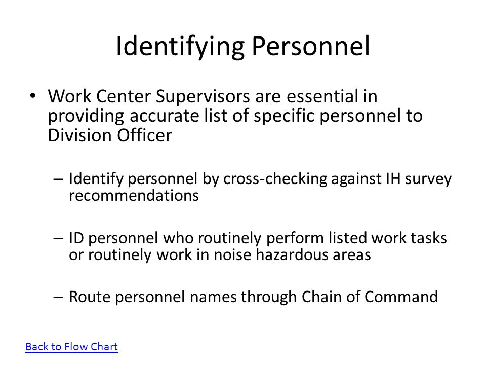 Identifying Personnel