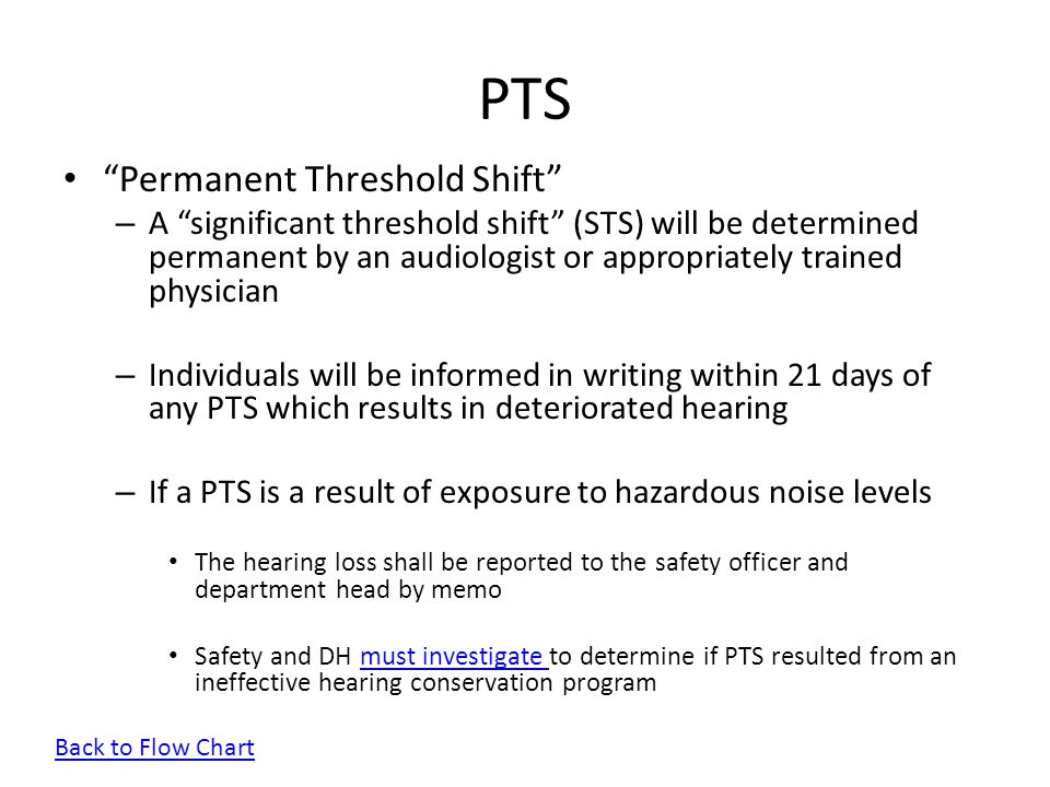 PTS Permanent Threshold Shift