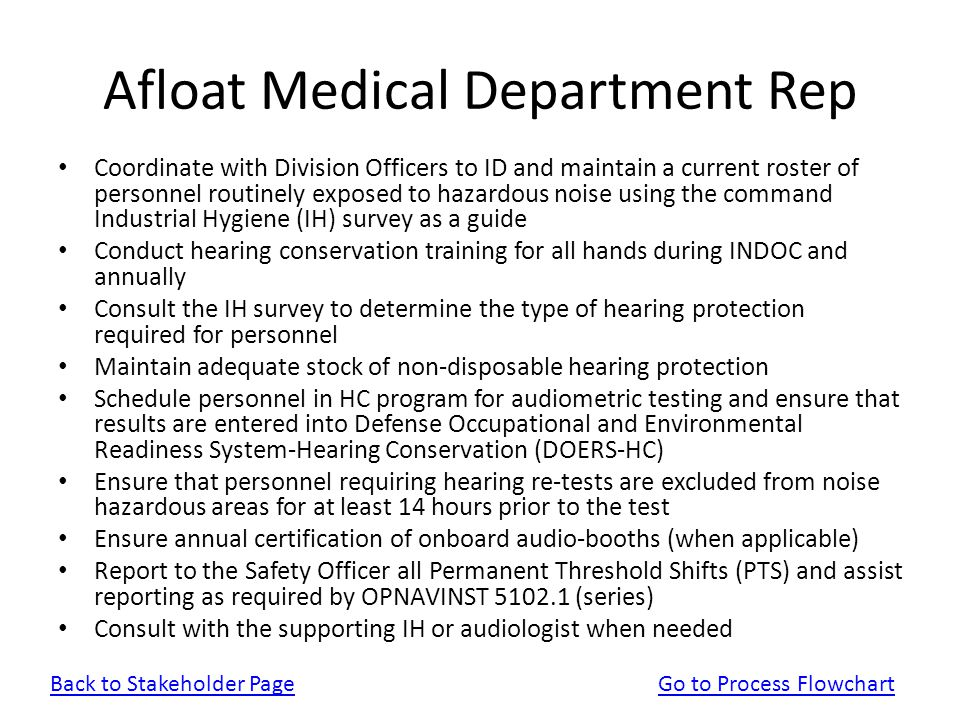 Afloat Medical Department Rep