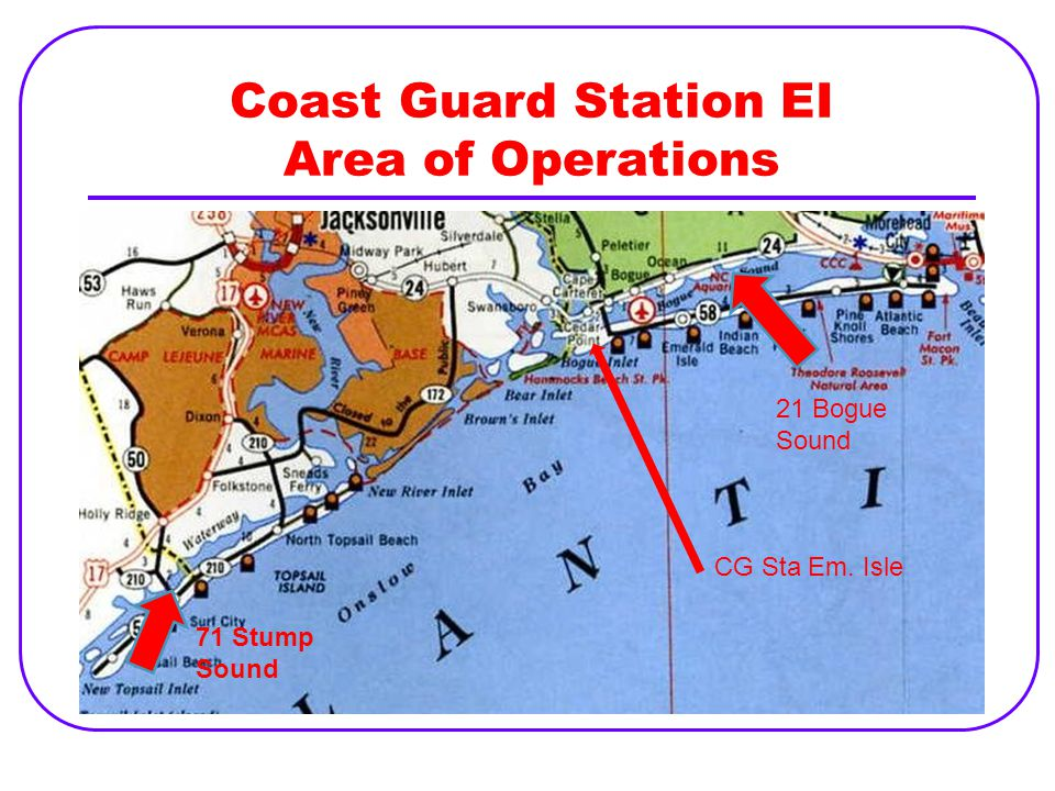 Coast Guard Station EI Area of Operations
