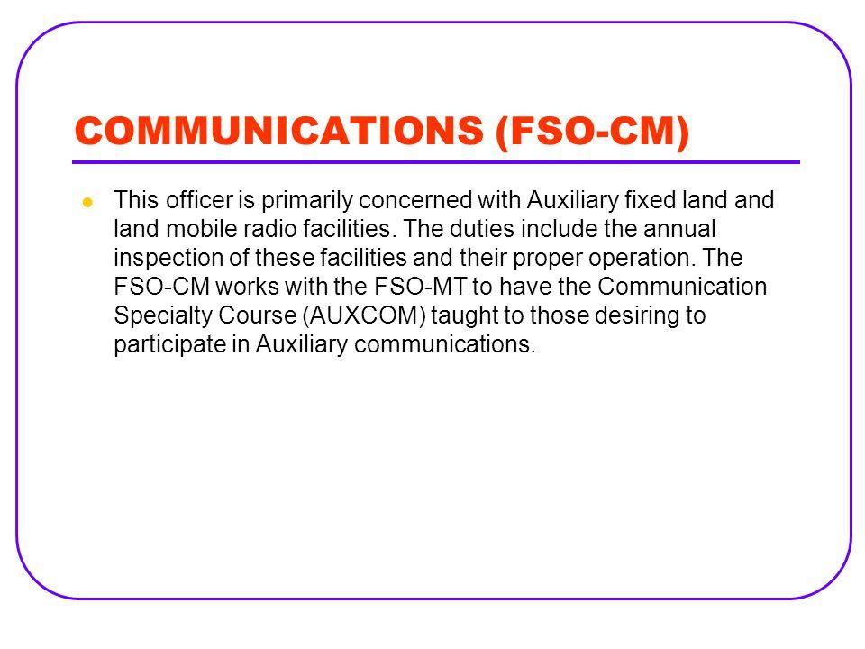 COMMUNICATIONS (FSO-CM)