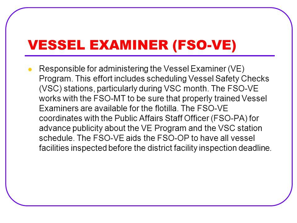VESSEL EXAMINER (FSO-VE)