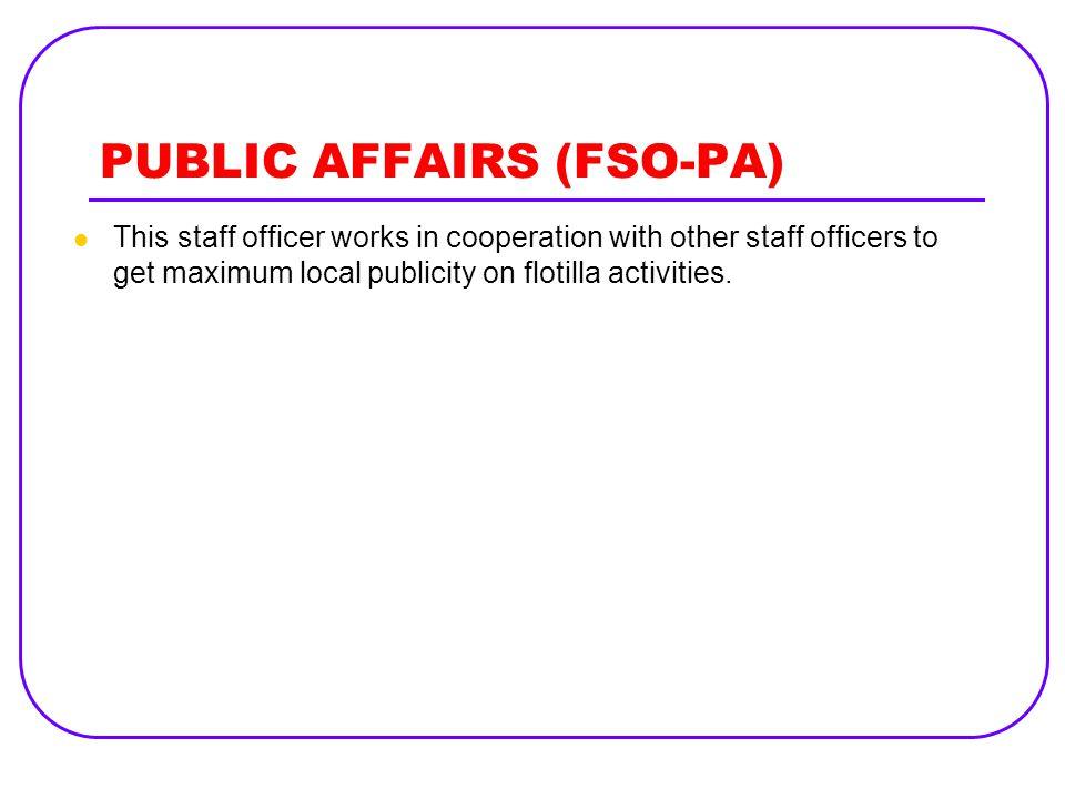 PUBLIC AFFAIRS (FSO-PA)