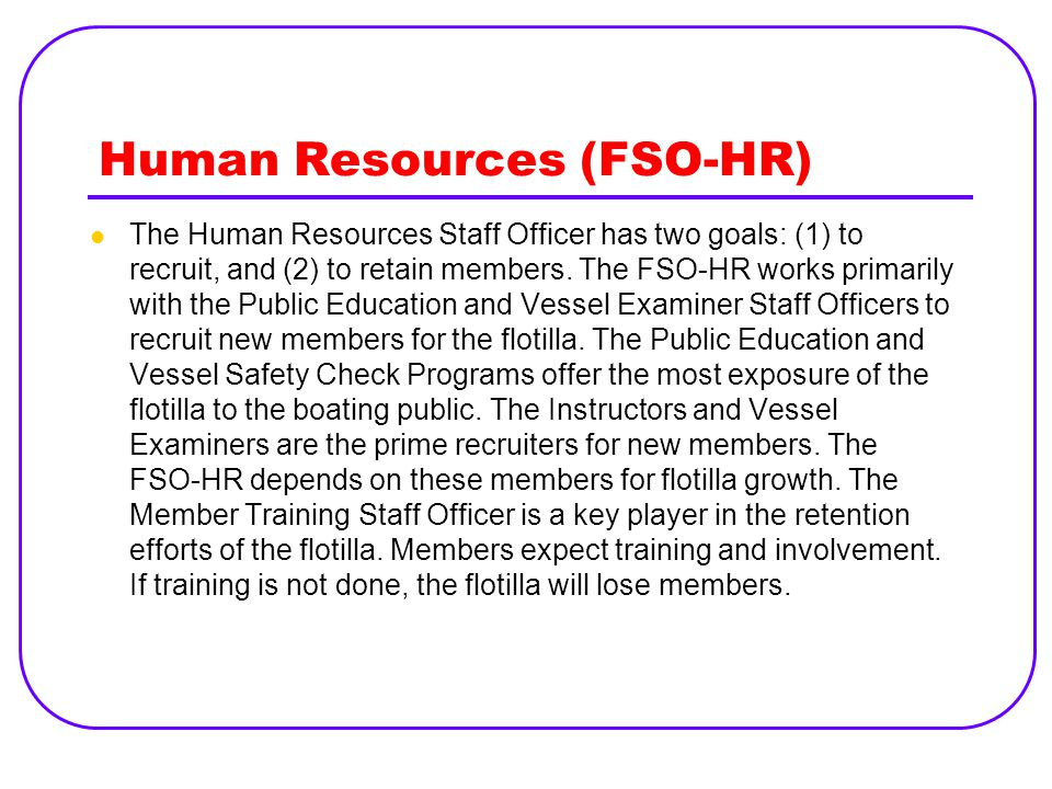 Human Resources (FSO-HR)