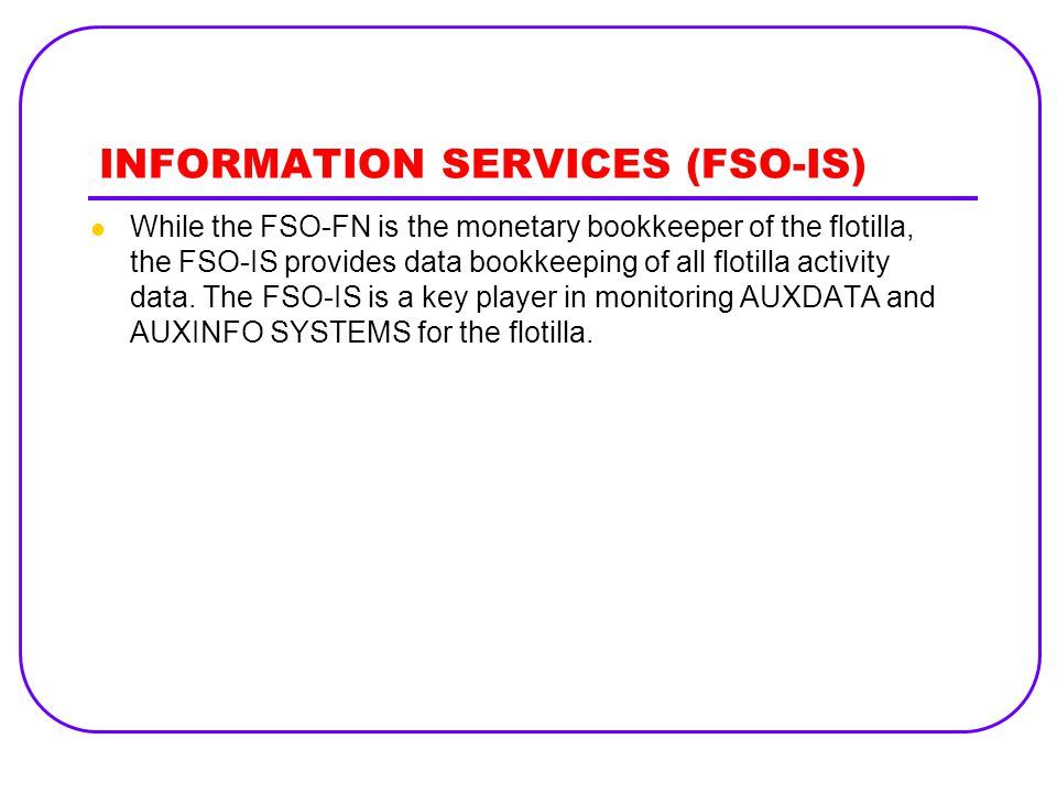 INFORMATION SERVICES (FSO-IS)