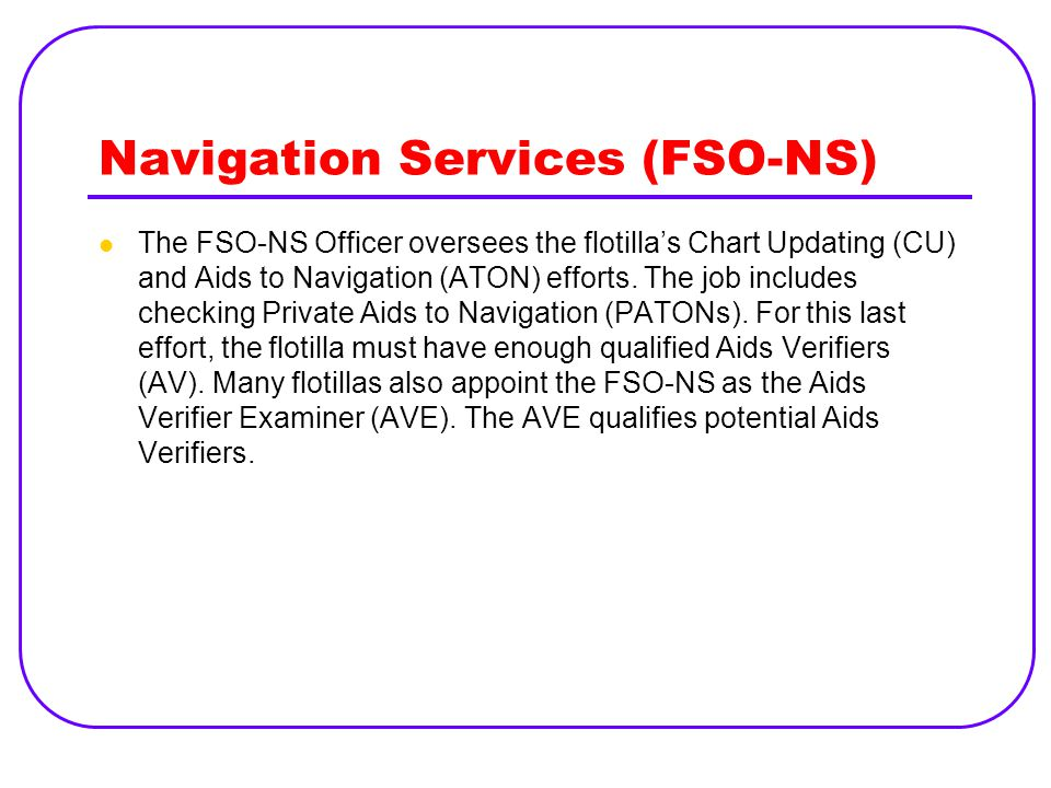 Navigation Services (FSO-NS)