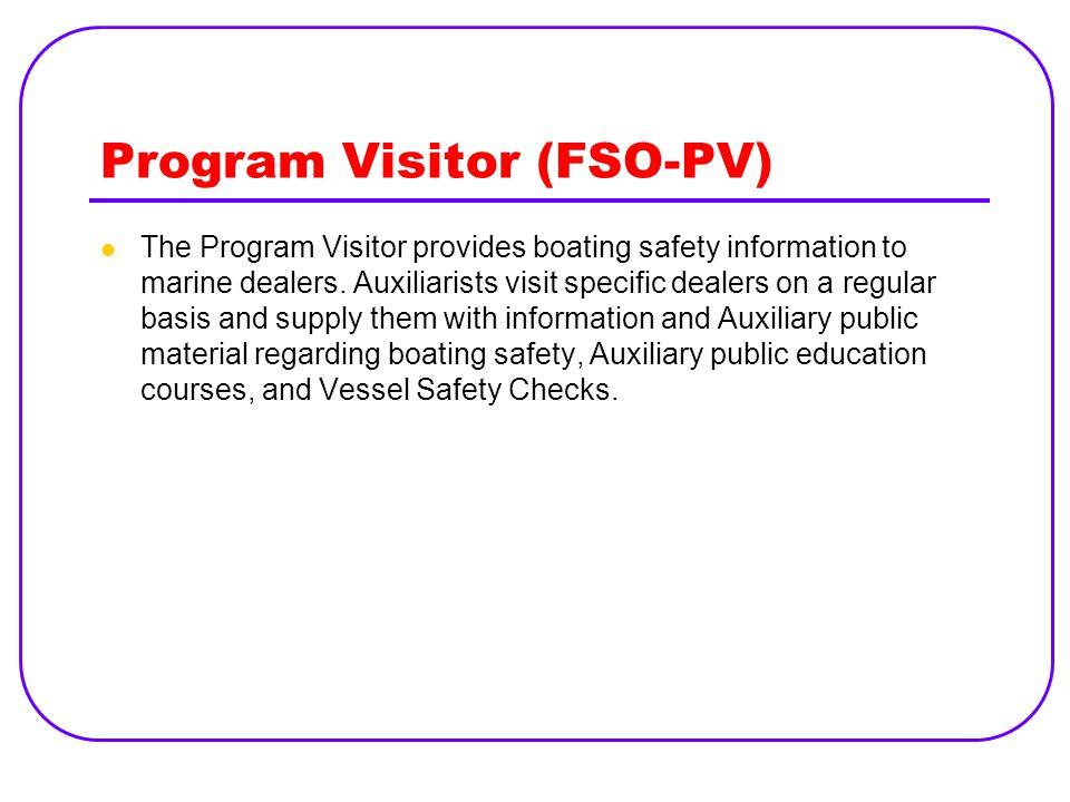 Program Visitor (FSO-PV)
