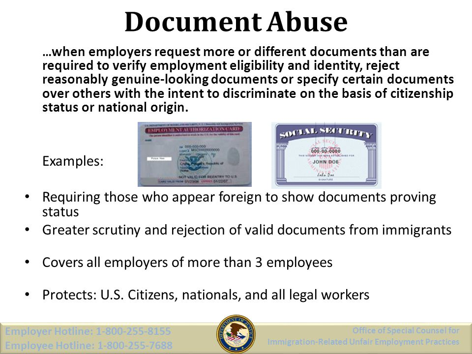 Document Abuse Examples: