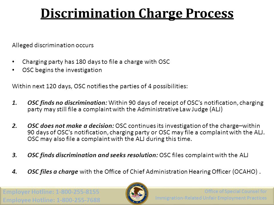 Discrimination Charge Process