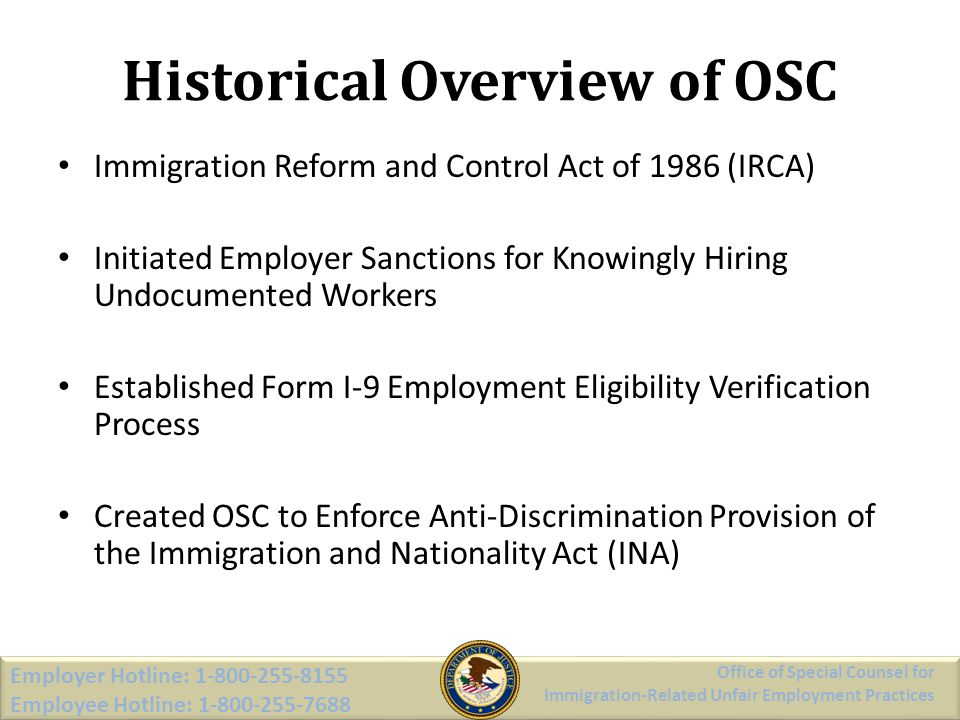 Historical Overview of OSC