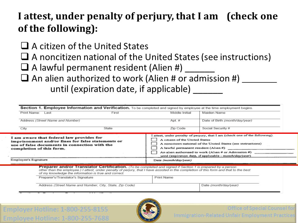 I attest, under penalty of perjury, that I am