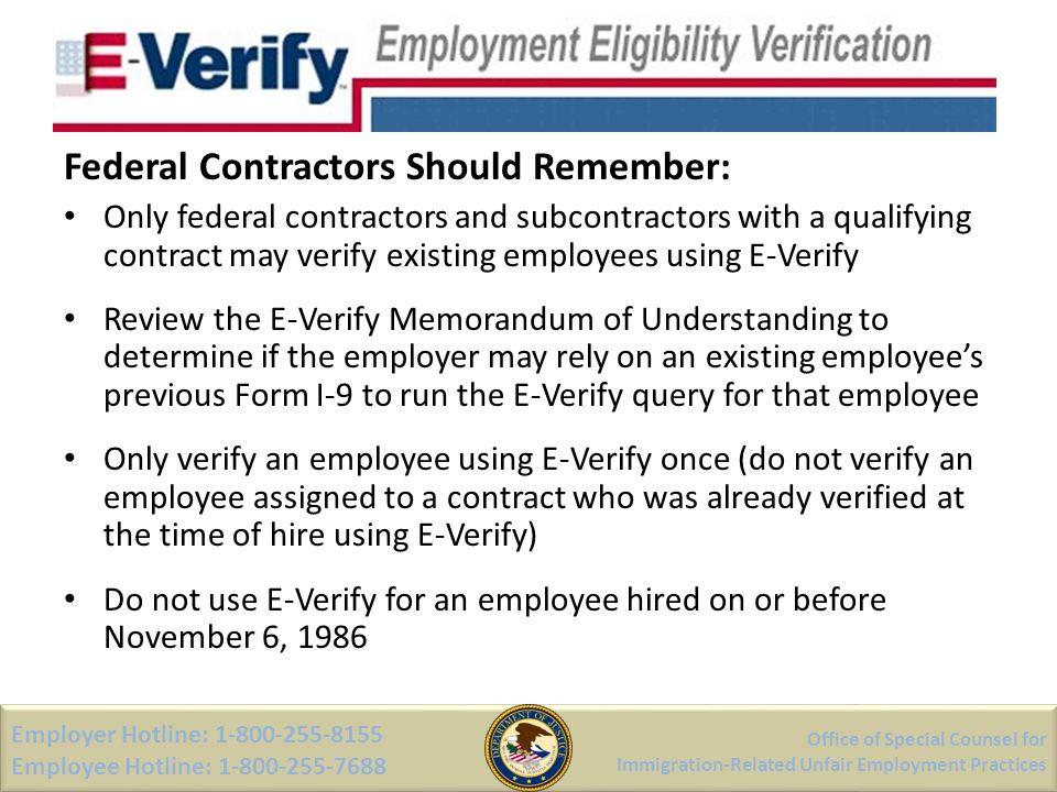 Federal Contractors Should Remember: