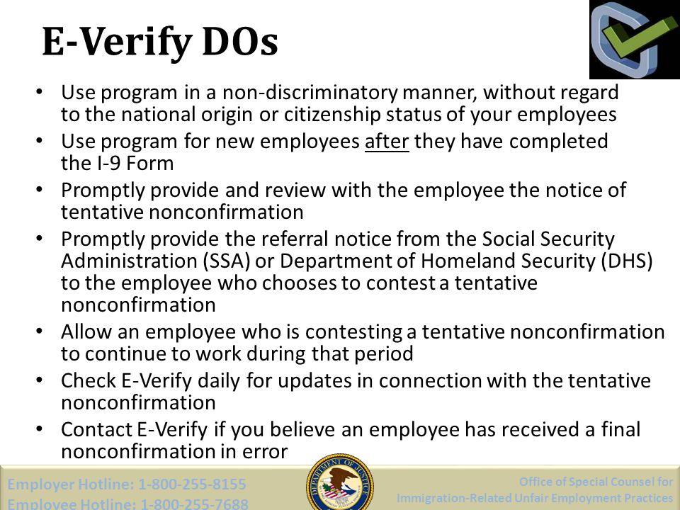 E-Verify DOs