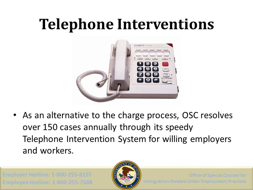 Telephone Interventions
