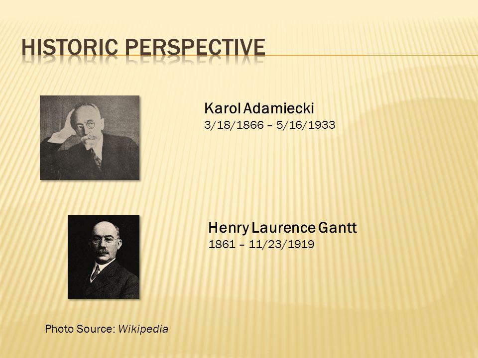 Historic perspective Karol Adamiecki Henry Laurence Gantt