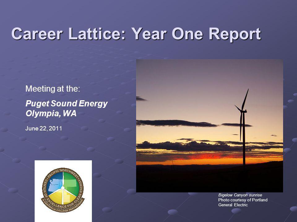 Career Lattice: Year One Report