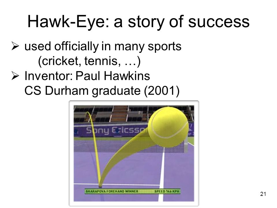 Hawk-Eye: a story of success