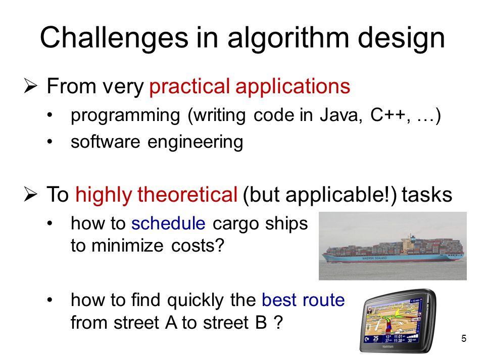 Challenges in algorithm design
