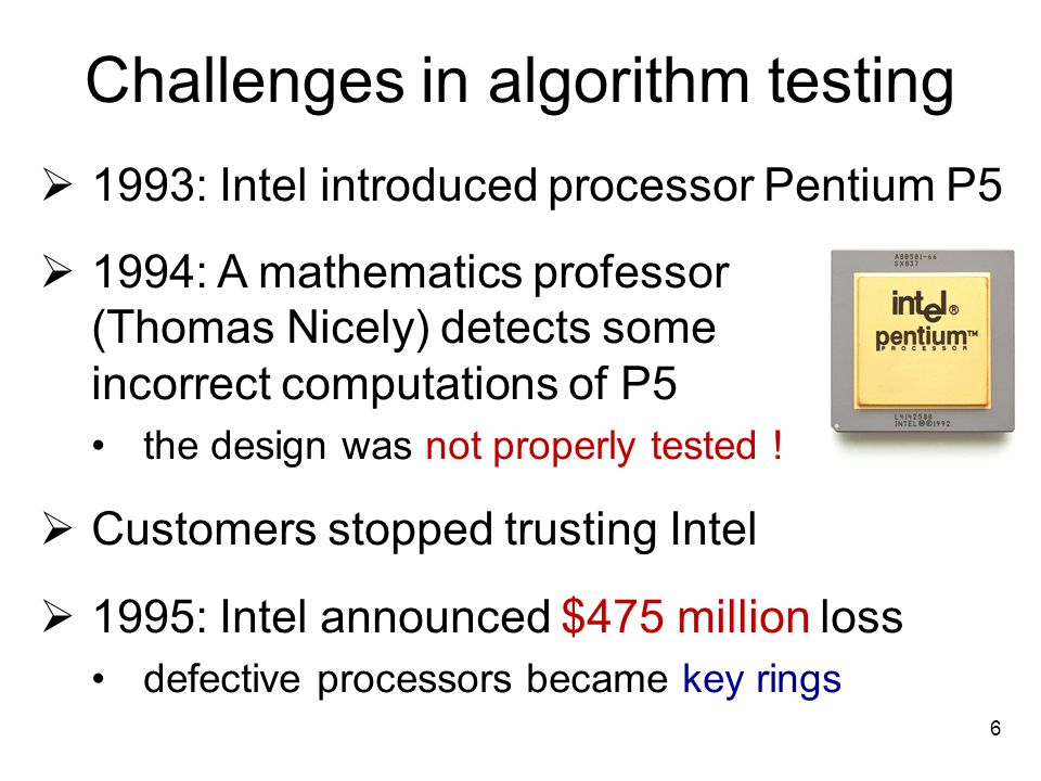 Challenges in algorithm testing