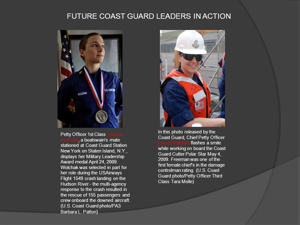 FUTURE COAST GUARD LEADERS IN ACTION