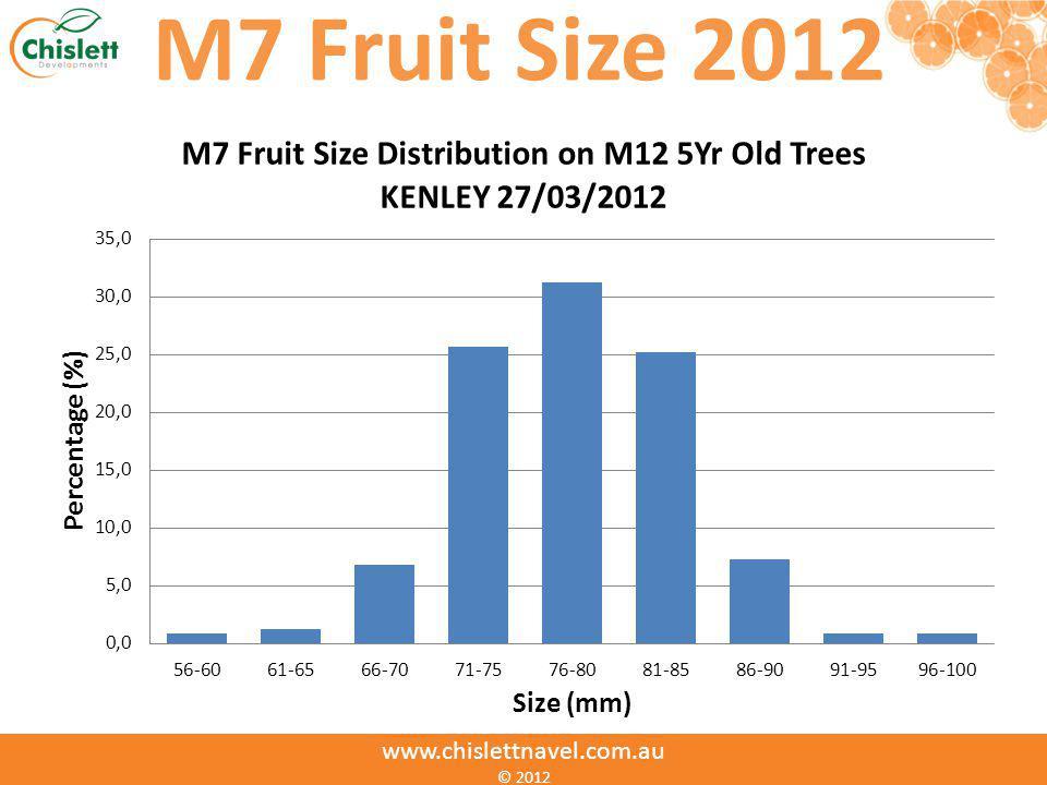 M7 Fruit Size 2012 www.chislettnavel.com.au © 2012