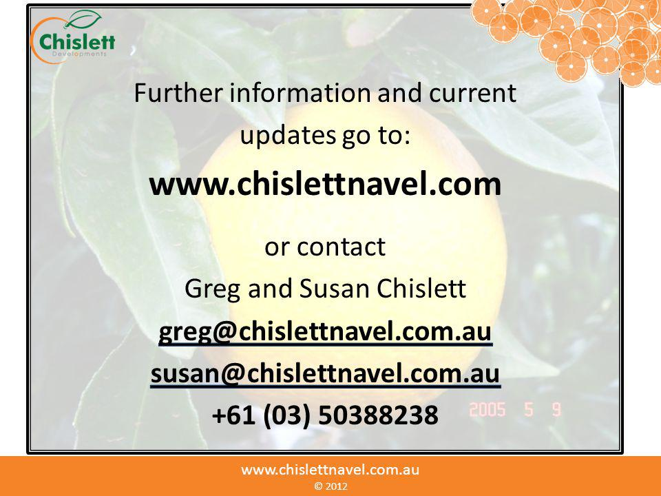 www.chislettnavel.com Further information and current updates go to: