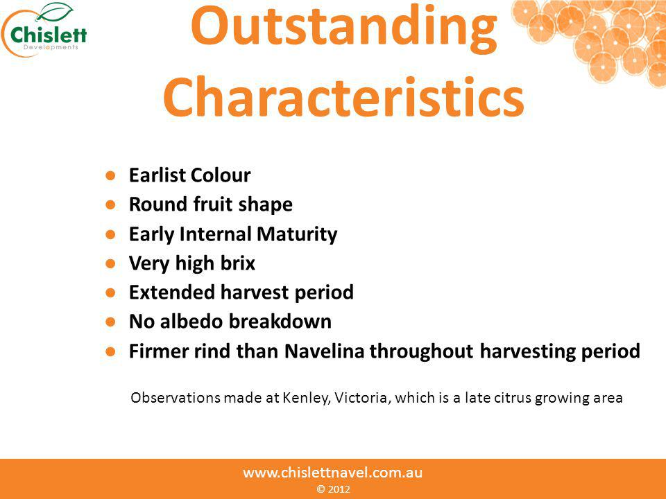 Outstanding Characteristics