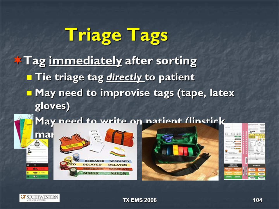 Triage Tags Tag immediately after sorting