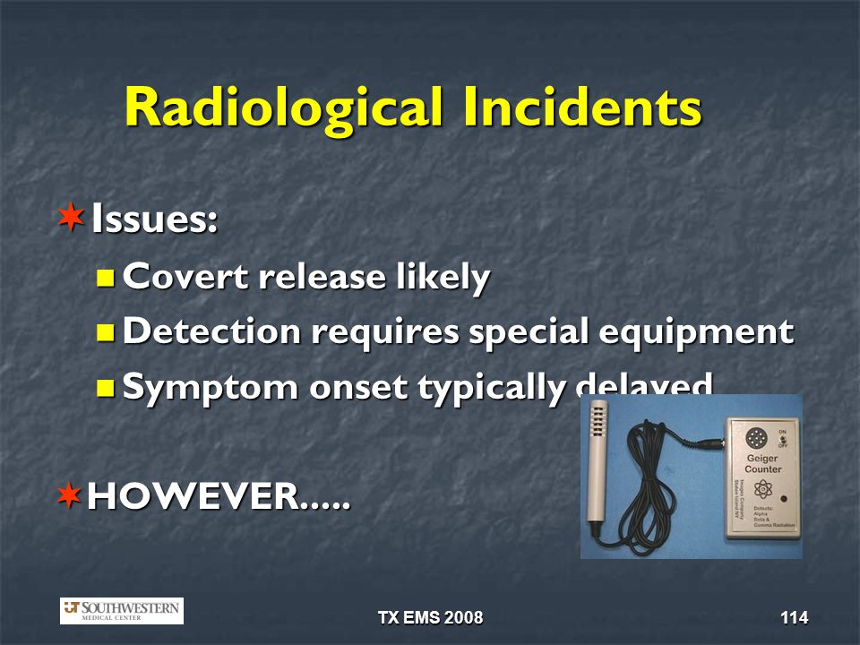 Radiological Incidents