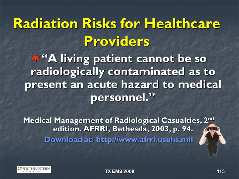 Radiation Risks for Healthcare Providers
