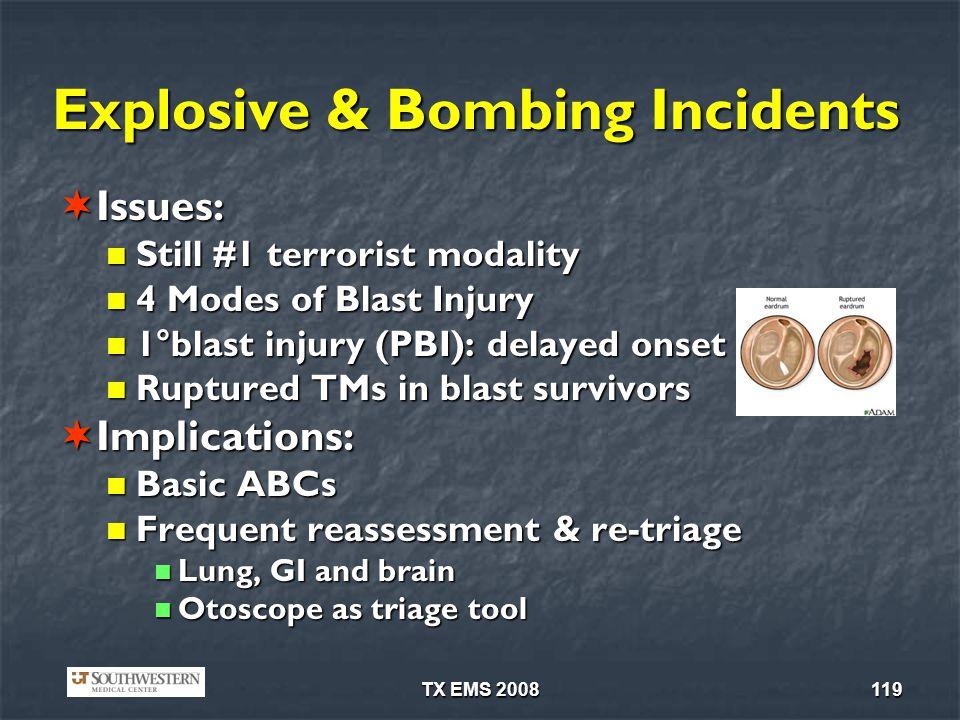 Explosive & Bombing Incidents