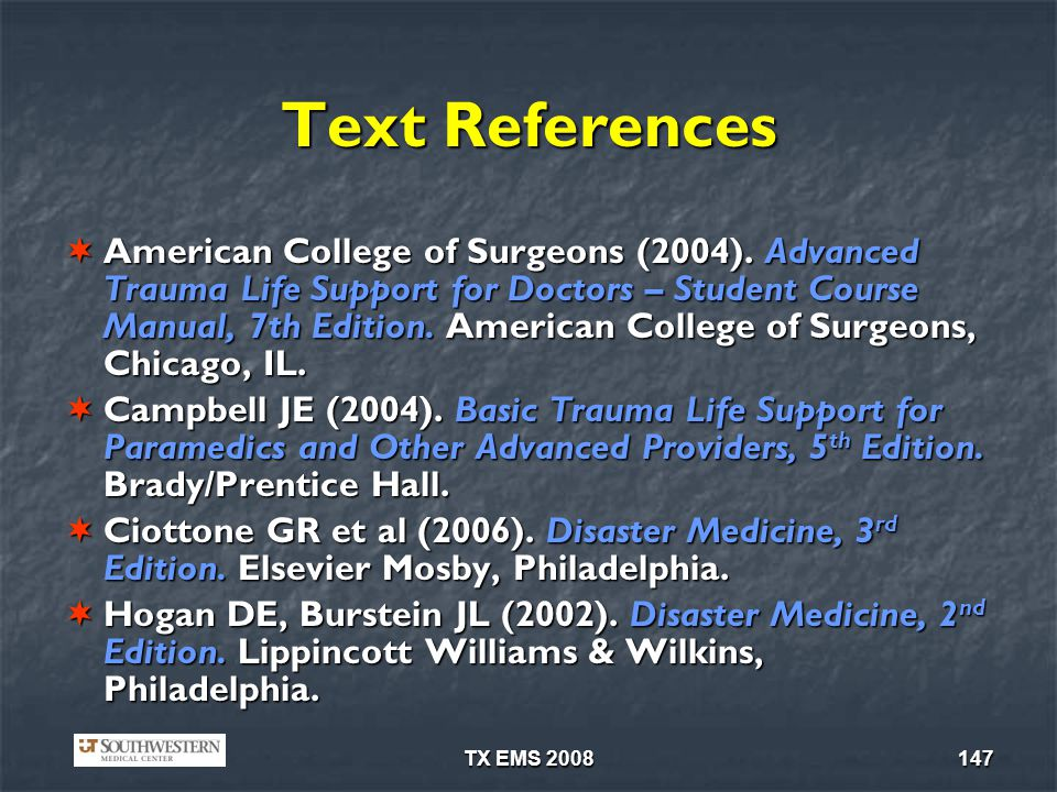 Text References