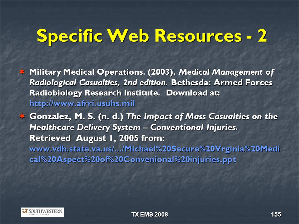 Specific Web Resources - 2