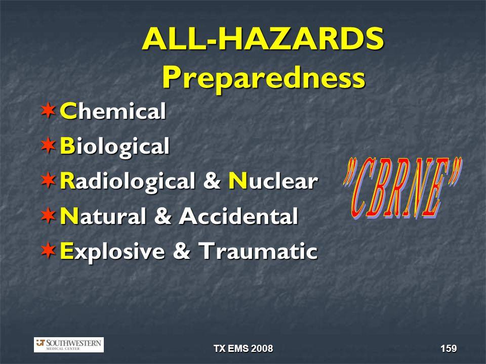 ALL-HAZARDS Preparedness