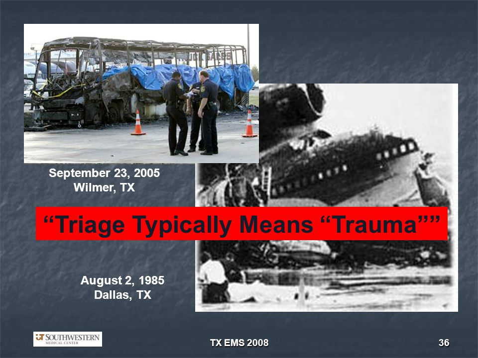 Triage Typically Means Trauma