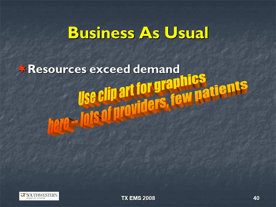 Business As Usual Use clip art for graphics