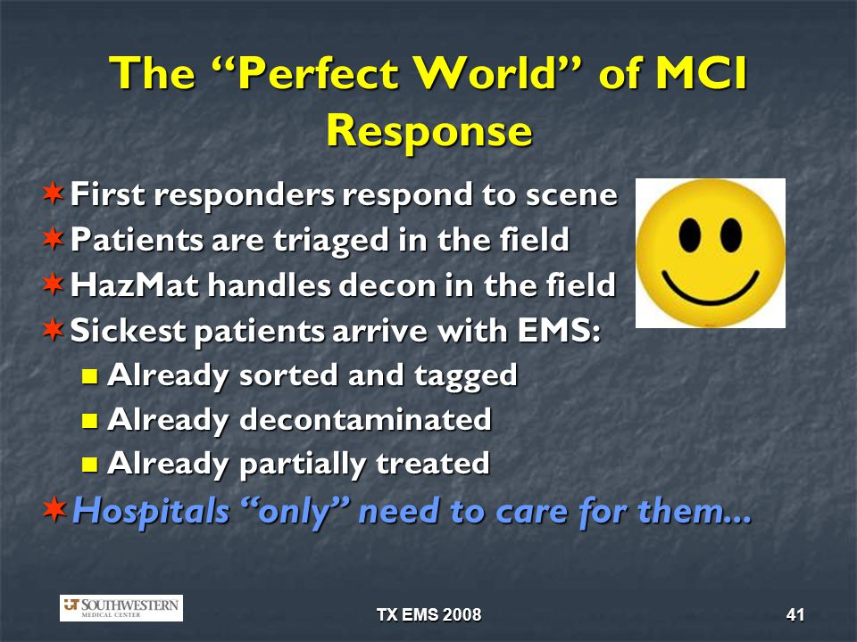 The Perfect World of MCI Response