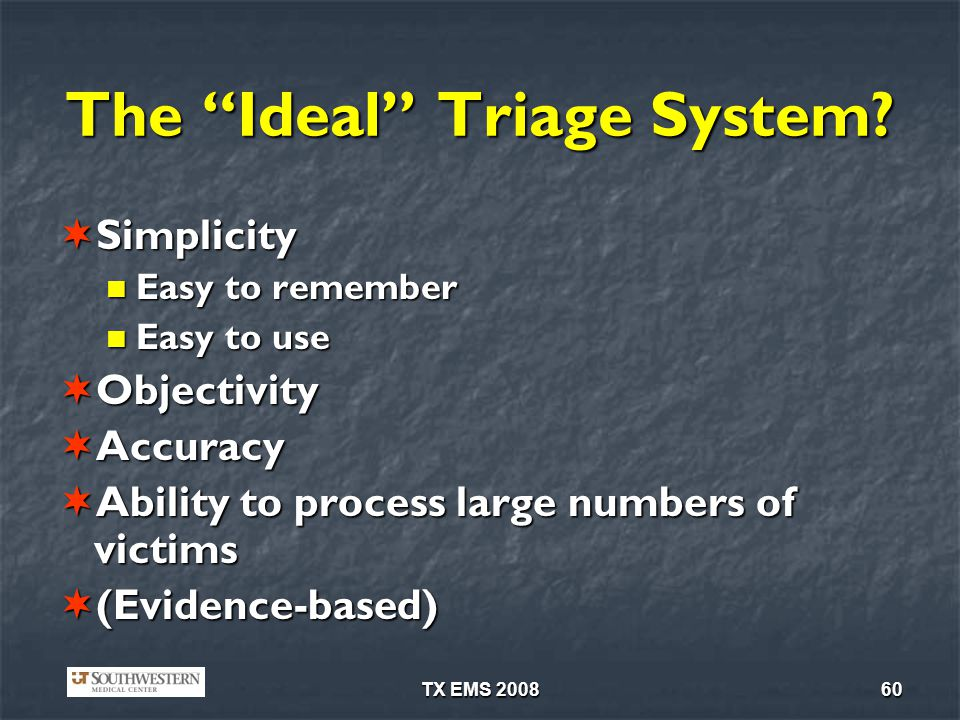 The Ideal Triage System