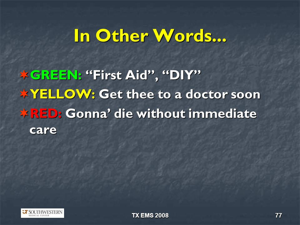 In Other Words... GREEN: First Aid , DIY