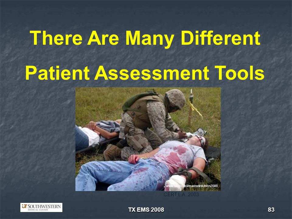 There Are Many Different Patient Assessment Tools