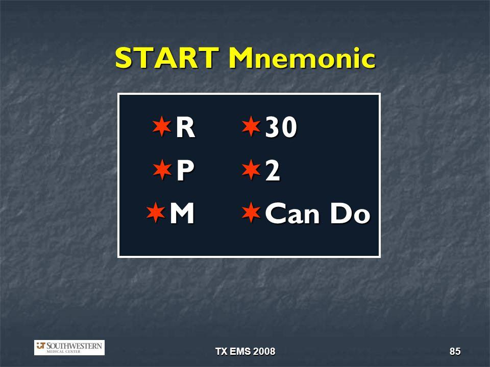 START Mnemonic R P M 30 2 Can Do TX EMS 2008