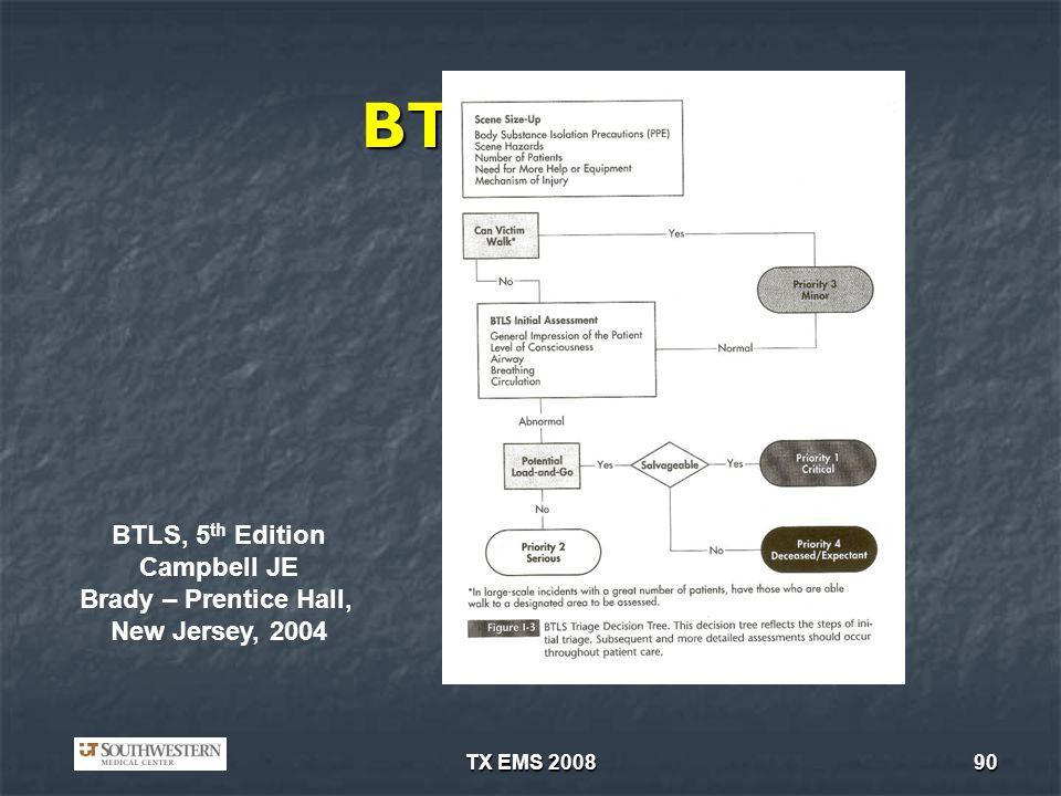 BTLS/ITLS BTLS, 5th Edition Campbell JE Brady – Prentice Hall,