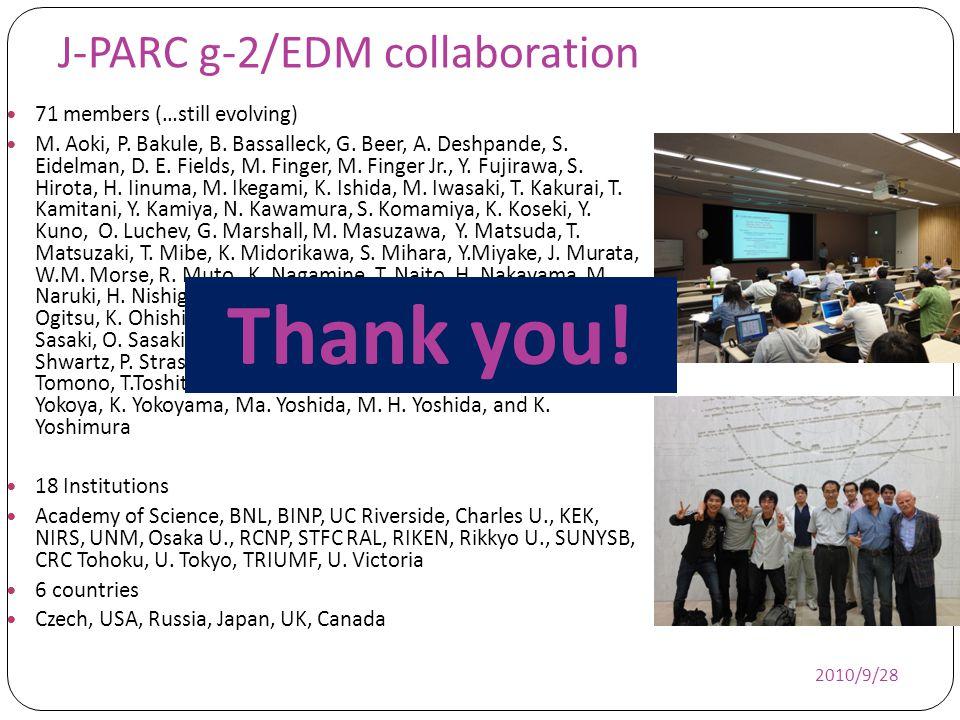 J-PARC g-2/EDM collaboration