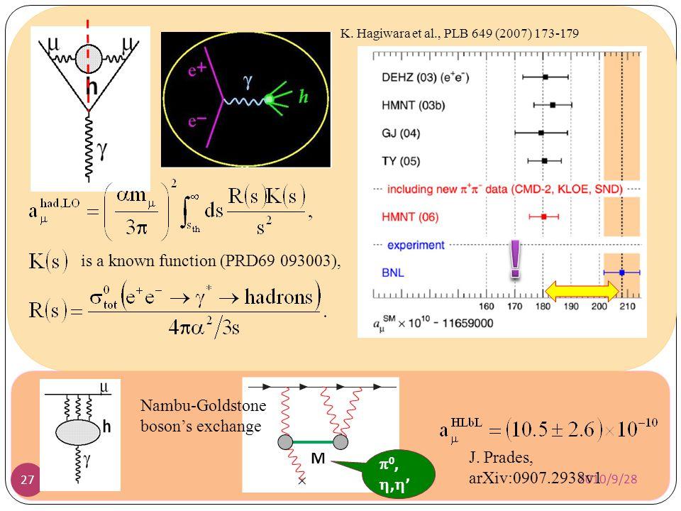 ! is a known function (PRD69 093003), Nambu-Goldstone boson's exchange