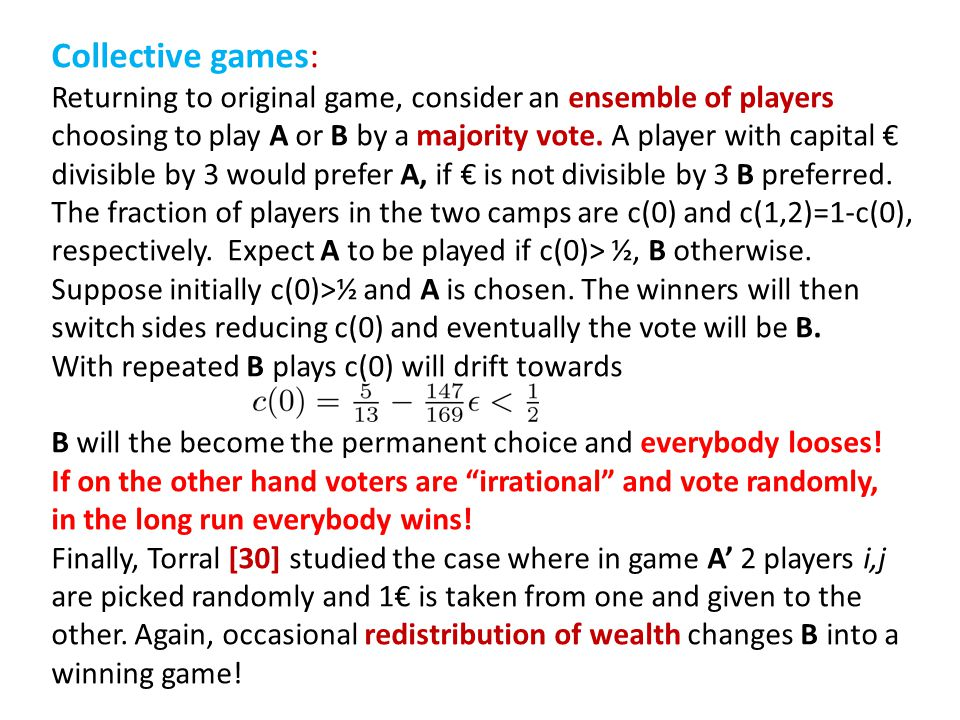 Collective games: