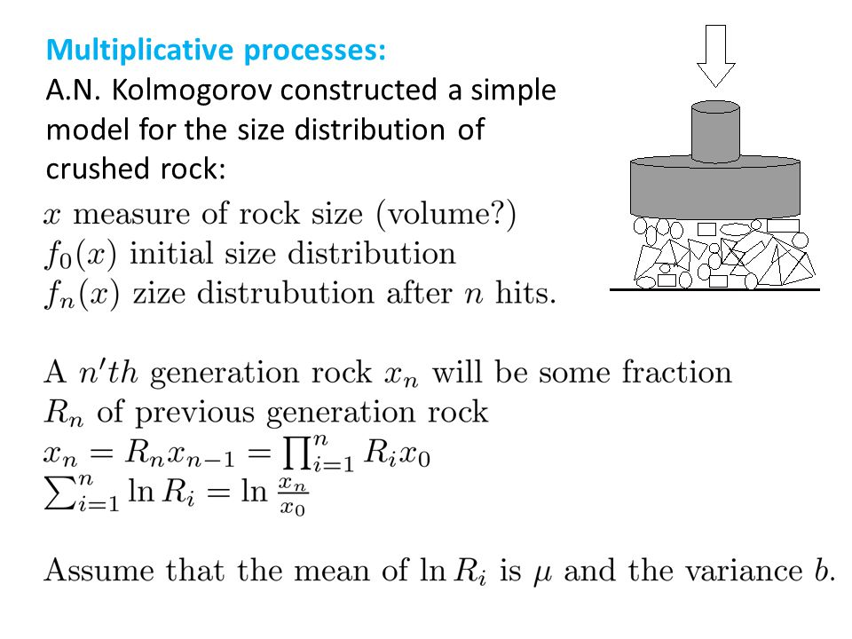 Multiplicative processes: